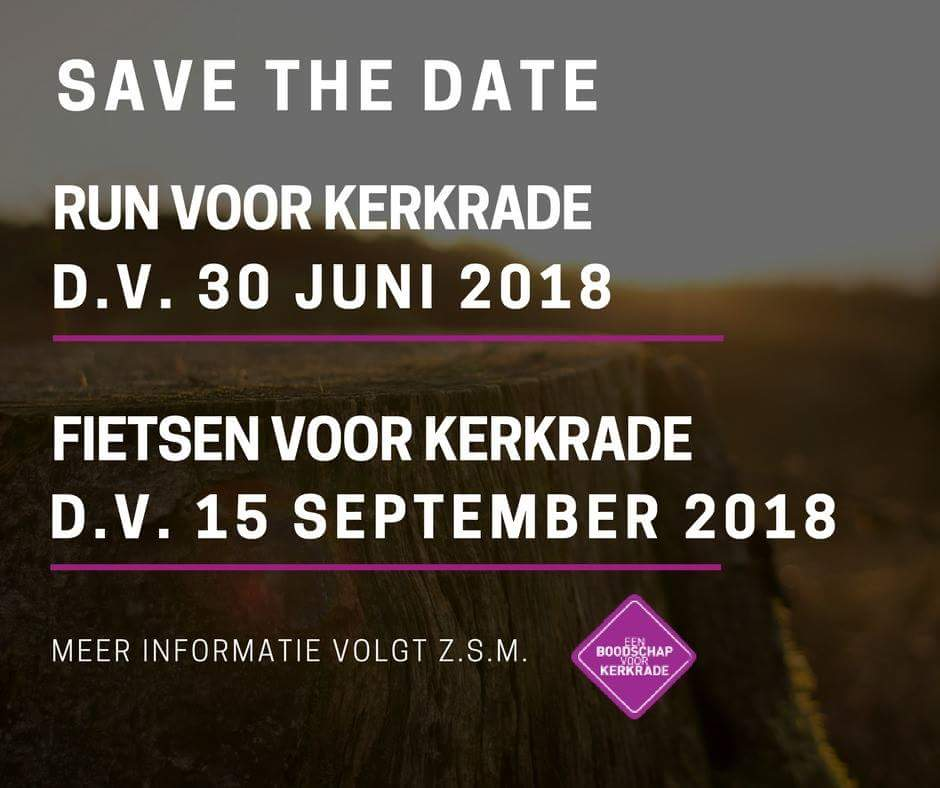 Save the date: 2 acties!
